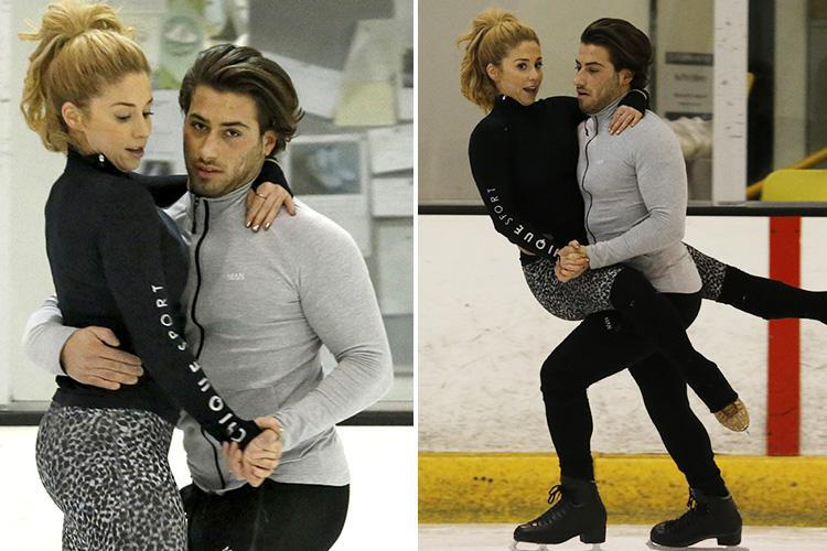 Kem Cetinay looks like a professional on the ice as he gets VERY close to Dancing On Ice partner Alex Murphy