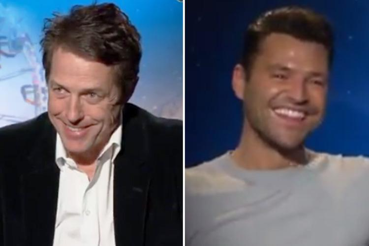 Mark Wright branded 'riff raff' by Hugh Grant who jokes 'you're lucky I'm speaking to you at all' in US TV show interview