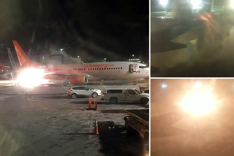 Toronto Pearson International – Plane bursts into fireball at Toronto airport after crashing into passenger jet, forcing hundreds to evacuate
