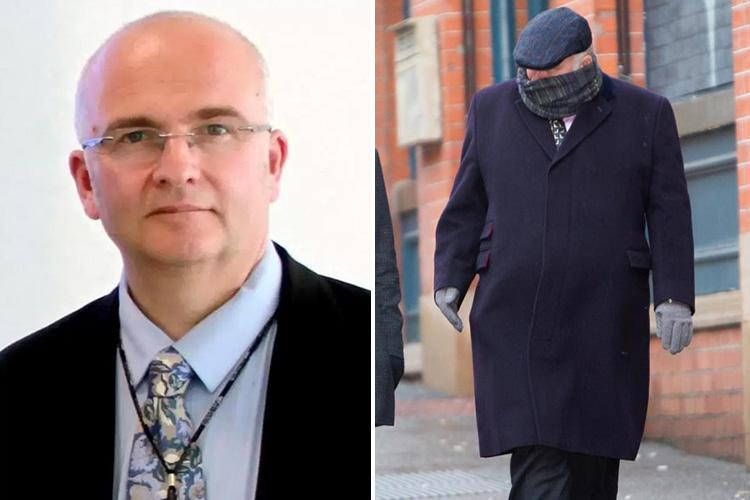 Sick surgeon who carved his initials on the livers of patients arrives at court to face punishment