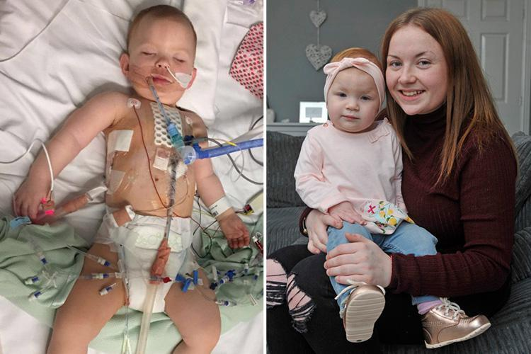 Mum of baby born with hole in her heart hits out after life-saving op cancelled FIVE times in NHS winter crisis