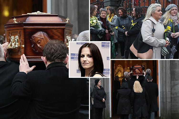 Dozens of mourners turn out to say goodbye to Cranberries star Dolores O'Riordan as she is laid in repose in hometown