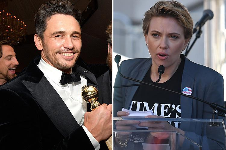 Scarlett Johansson calls out James Franco in Women's March speech after actor accused of sexual misconduct