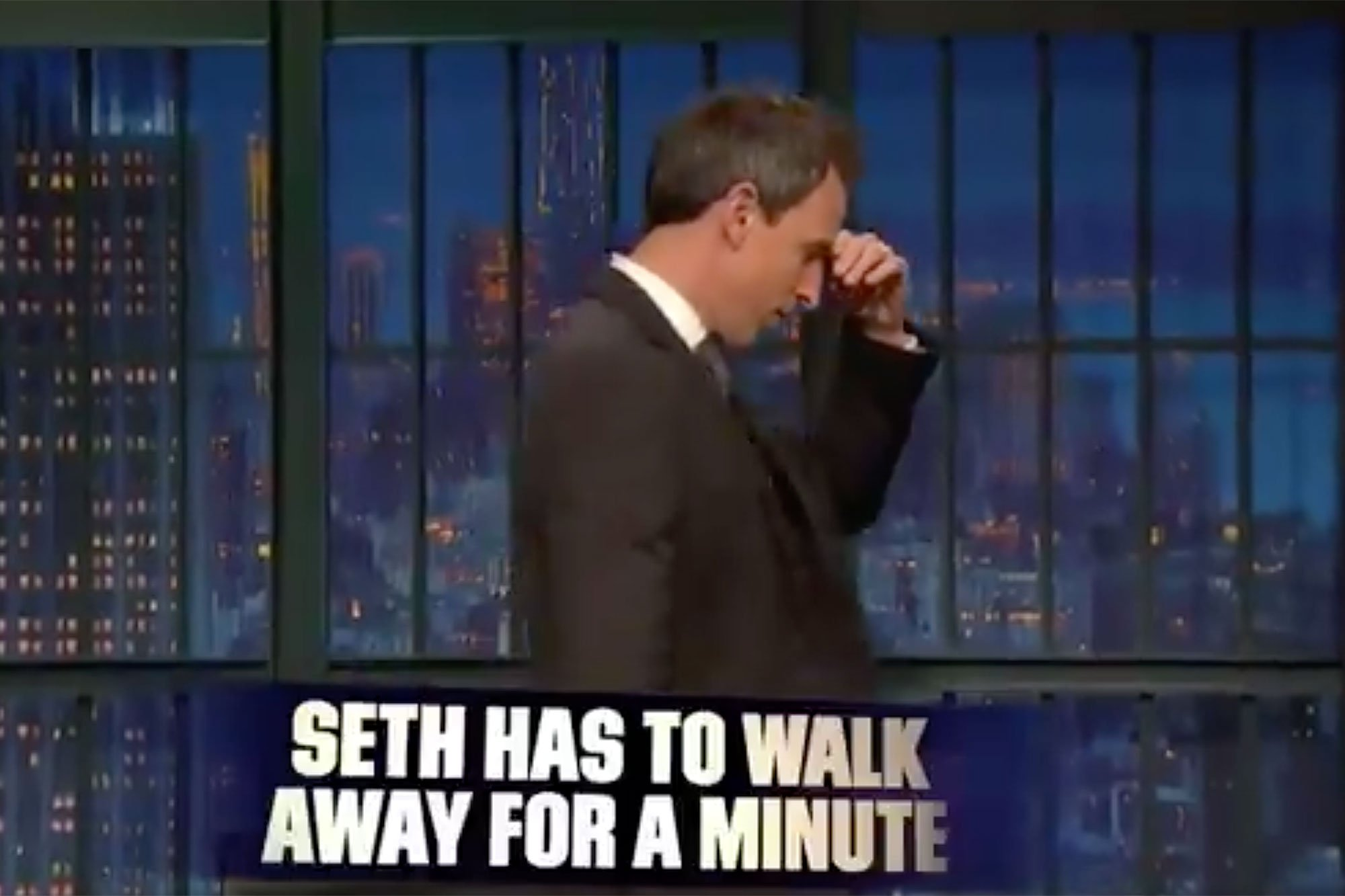 Trump shithole comment causes Seth Meyers to walk away from desk