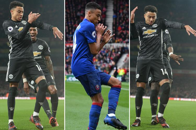Manchester United star Jesse Lingard's goal celebrations revealed… from the Milly Rock against Arsenal to Derby's Schmoney dance