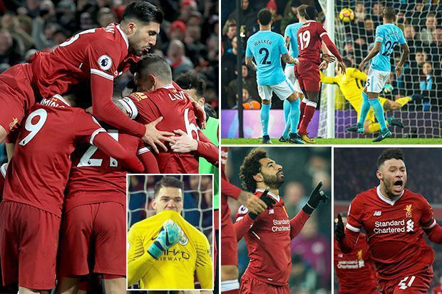 Liverpool 4 Manchester City 3: Jurgen Klopp's side rampant Reds score three goals in nine minutes to end City's 22-game unbeaten run