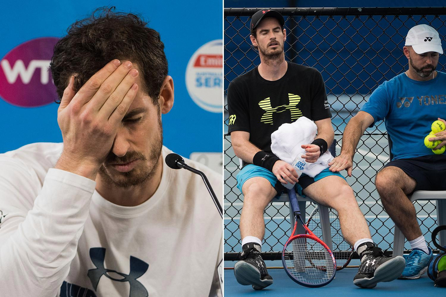Andy Murray huge doubt for Australian Open after pulling out of Brisbane International with hip injury