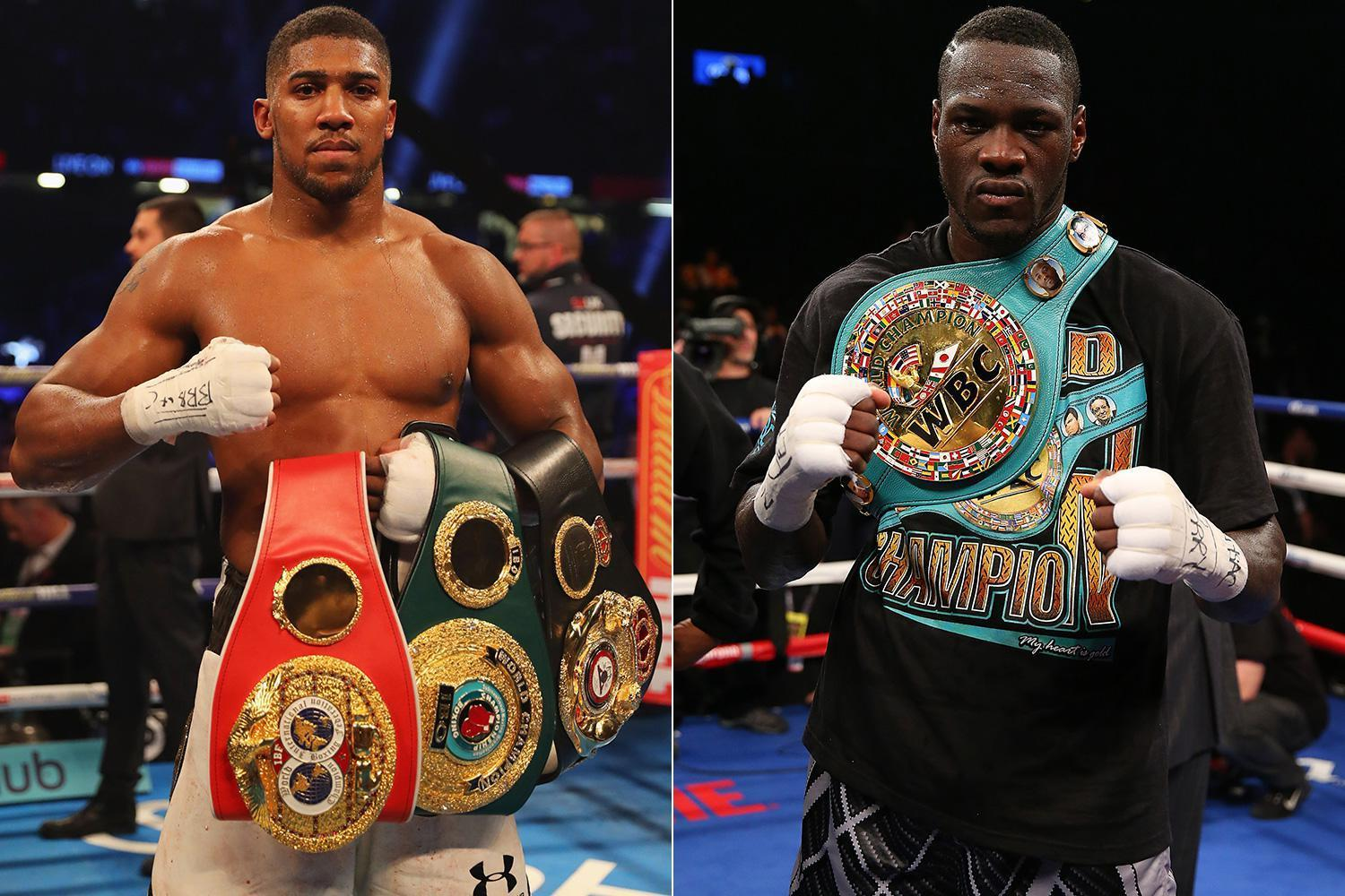Anthony Joshua reveals he will fight Deontay Wilder in Las Vegas after Joseph Parker bout