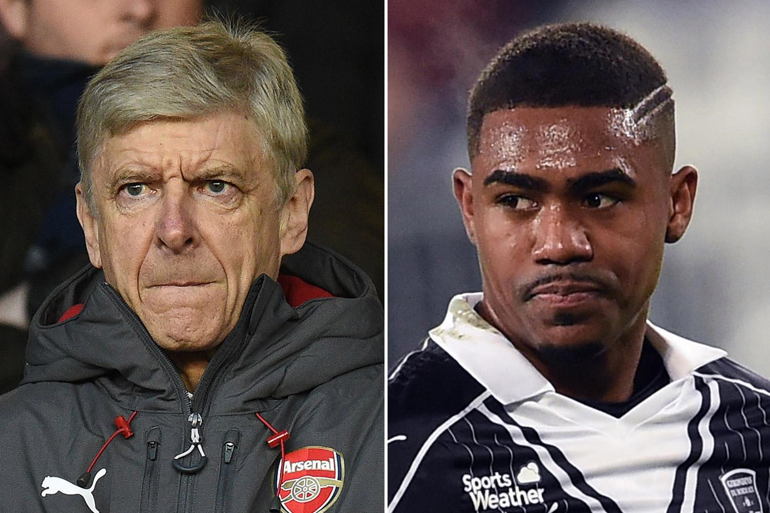 Arsenal dealt massive blow as Bordeaux refuse to sell Malcom this month
