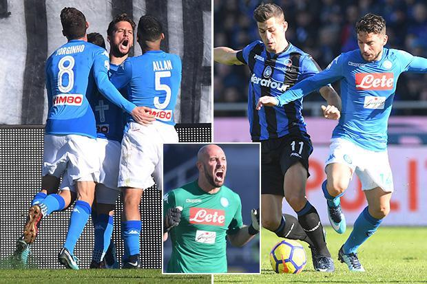 Atalanta 0 Napoli 1: Dries Mertens strikes to fire the Partenopei four points clear at the top of Serie A