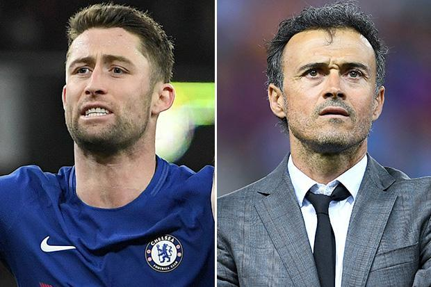 Gary Cahill insists talk of Luis Enrique replacing Antonio Conte won't affect Chelsea players
