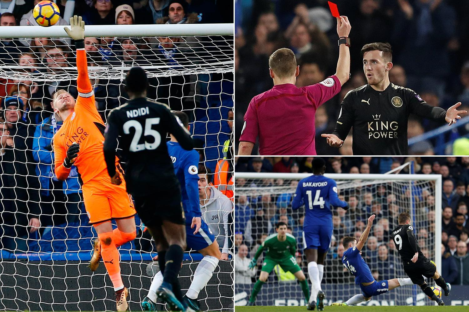 Chelsea 0 Leicester 0: Blues squander huge chance to go second in the Premier League with goalless draw against ten-man Foxes