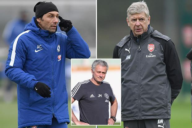 Antonio Conte and Arsene Wenger set for battle in Carabao Cup but are united in war with Jose Mourinho