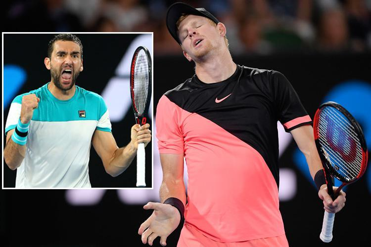 Brave Kyle Edmund beaten by Marin Cilic in straight sets in Australian Open semi-final after amazing run Down Under