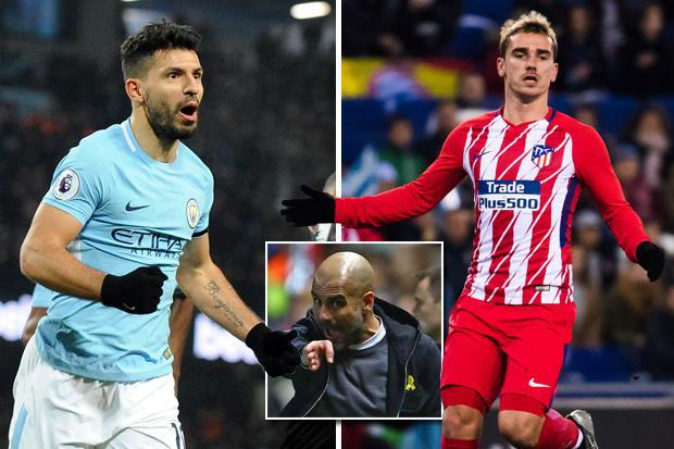Manchester City star Sergio Aguero sounded out for shock return by Atletico Madrid with Pep Guardiola eyeing Antoine Griezmann in return