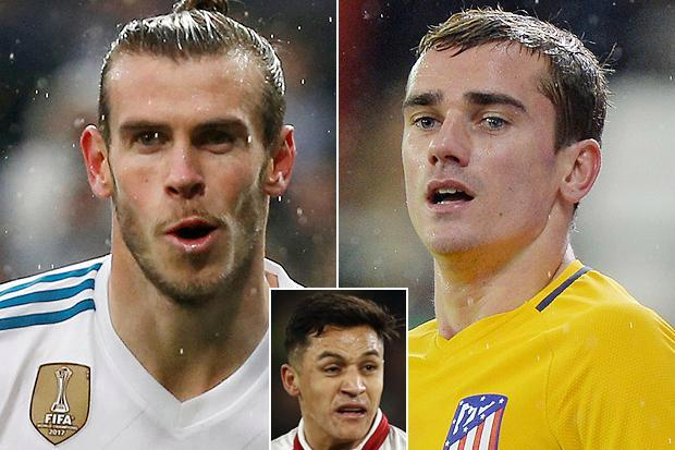 Manchester United ready to end Antoine Griezmann and Gareth Bale interest if they land £35million Alexis Sanchez