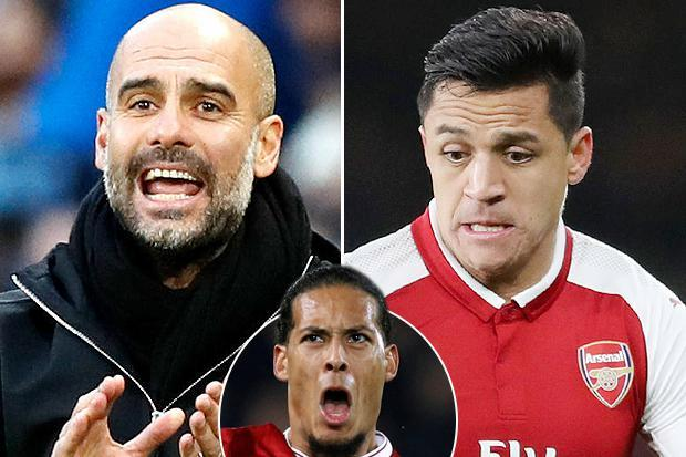Pep Guardiola chose trying to sign Arsenal star Alexis Sanchez over bolstering Manchester City defence with Virgil van Dijk