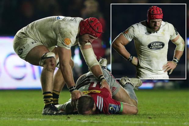 England forward James Haskell's comeback hanging by a thread after he saw red for late Jamie Roberts smash