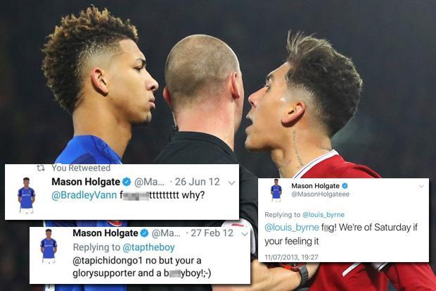 Mason Holgate accused of homophobic tweets as Everton star deletes Twitter account