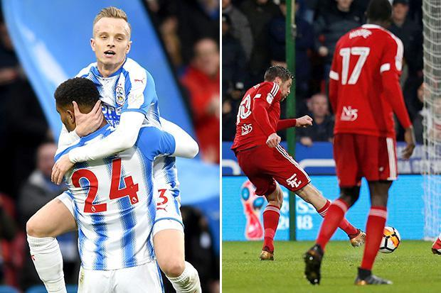 Huddersfield 1 Birmingham 1: All square in FA Cup tie with Steve Mounie and Lukas Jutkiewicz scoring