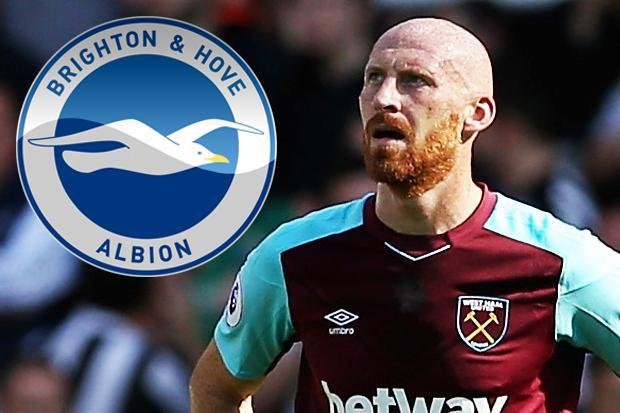 West Ham defender James Collins braced for move to Brighton as Chris Hughton looks to bolster his back-line