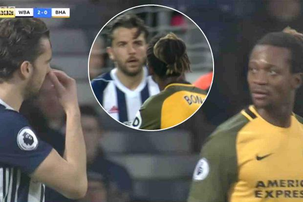 West Brom's Jay Rodriguez investigated by FA over claims he racially abused Brighton defender Gaetan Bong