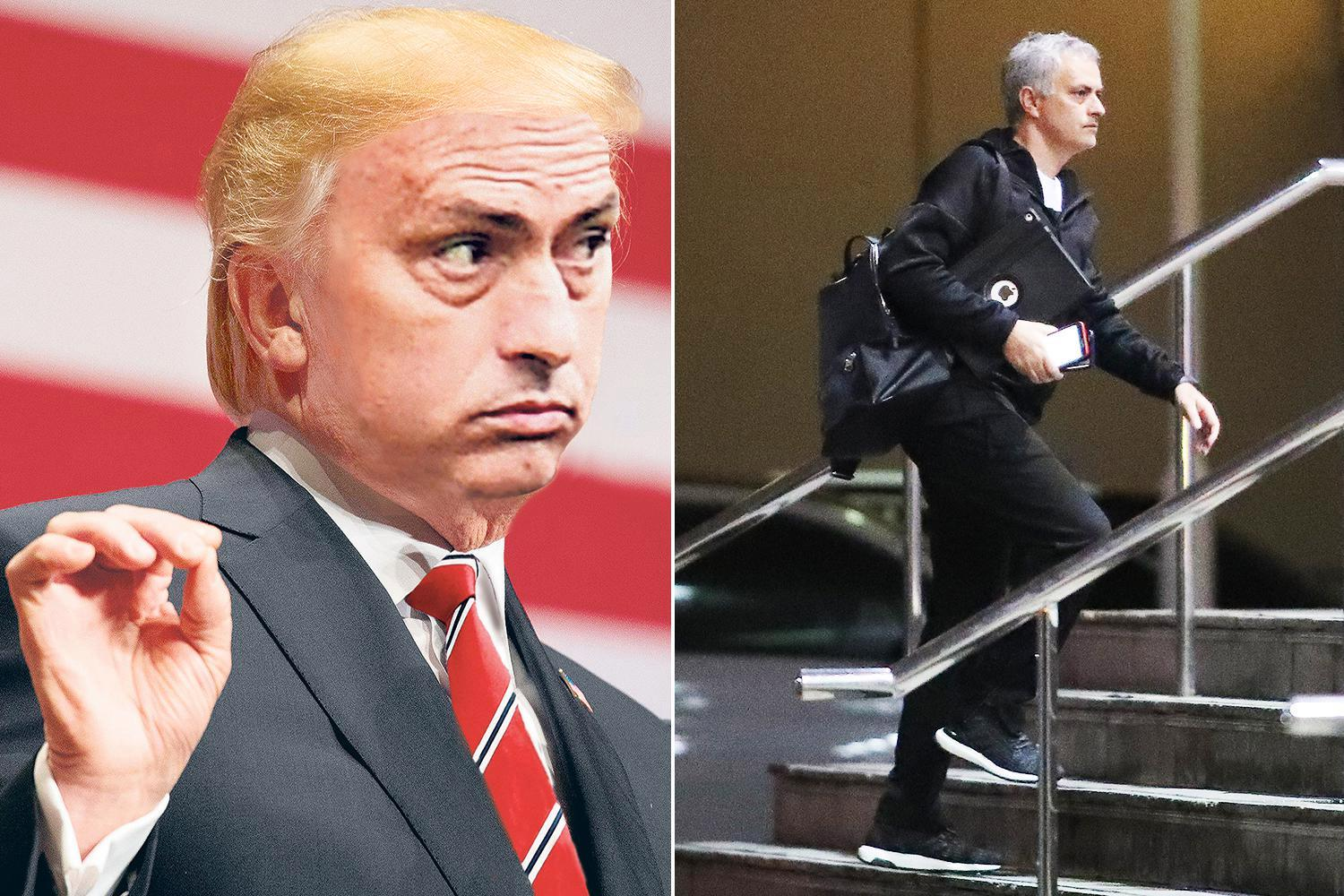 Jose Mourinho was in full Donald Trump mode as he dismissed talk of him quitting Manchester United as 'garbarge news'