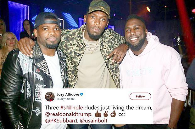 Jozy Altidore takes a swipe at US president Donald Trump with tongue-in-cheek tweet, alongside Usain Bolt and NHL star PK Subban