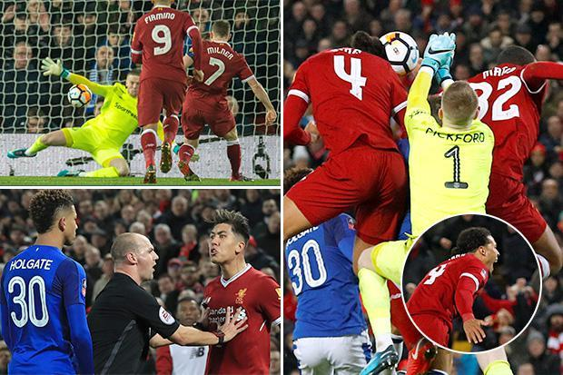 Liverpool 2 Everton 1: Virgil van Dijk scores dream debut winner to settle pulsating FA Cup Merseyside derby in front of the Kop