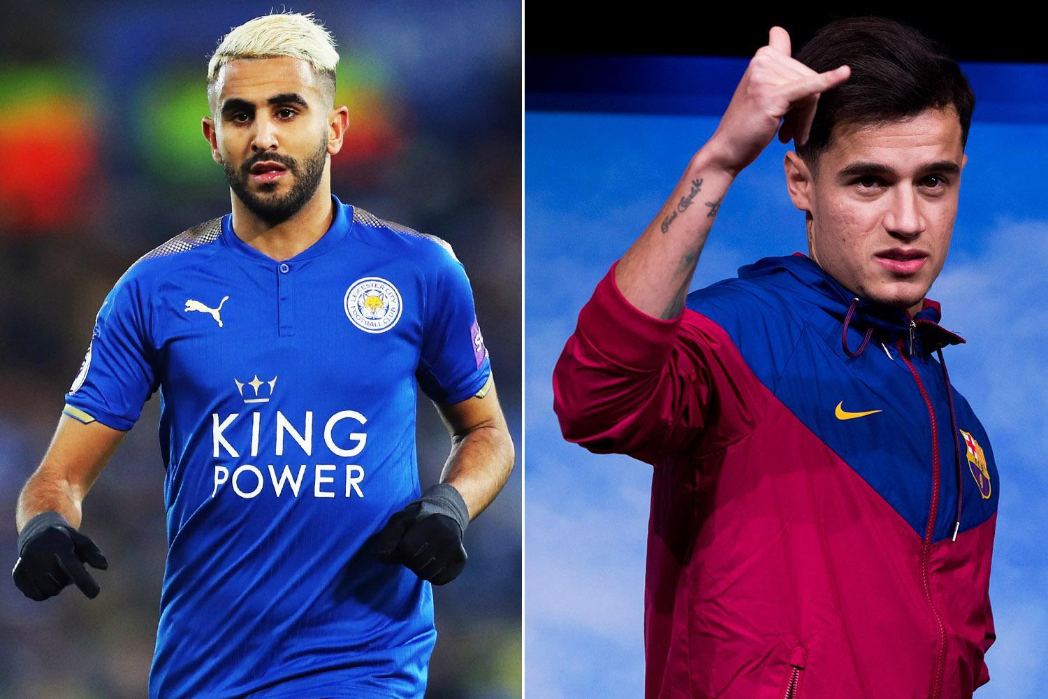 Leicester star Riyad Mahrez should to be worth £145million just like Philippe Coutinho, according to the stats