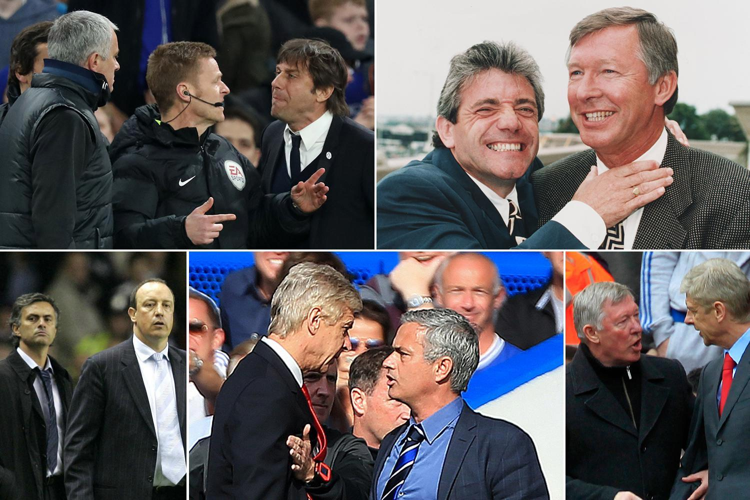 As Jose Mourinho and Antonio Conte continue to argue, we take a look at some of the most incredible managerial feuds