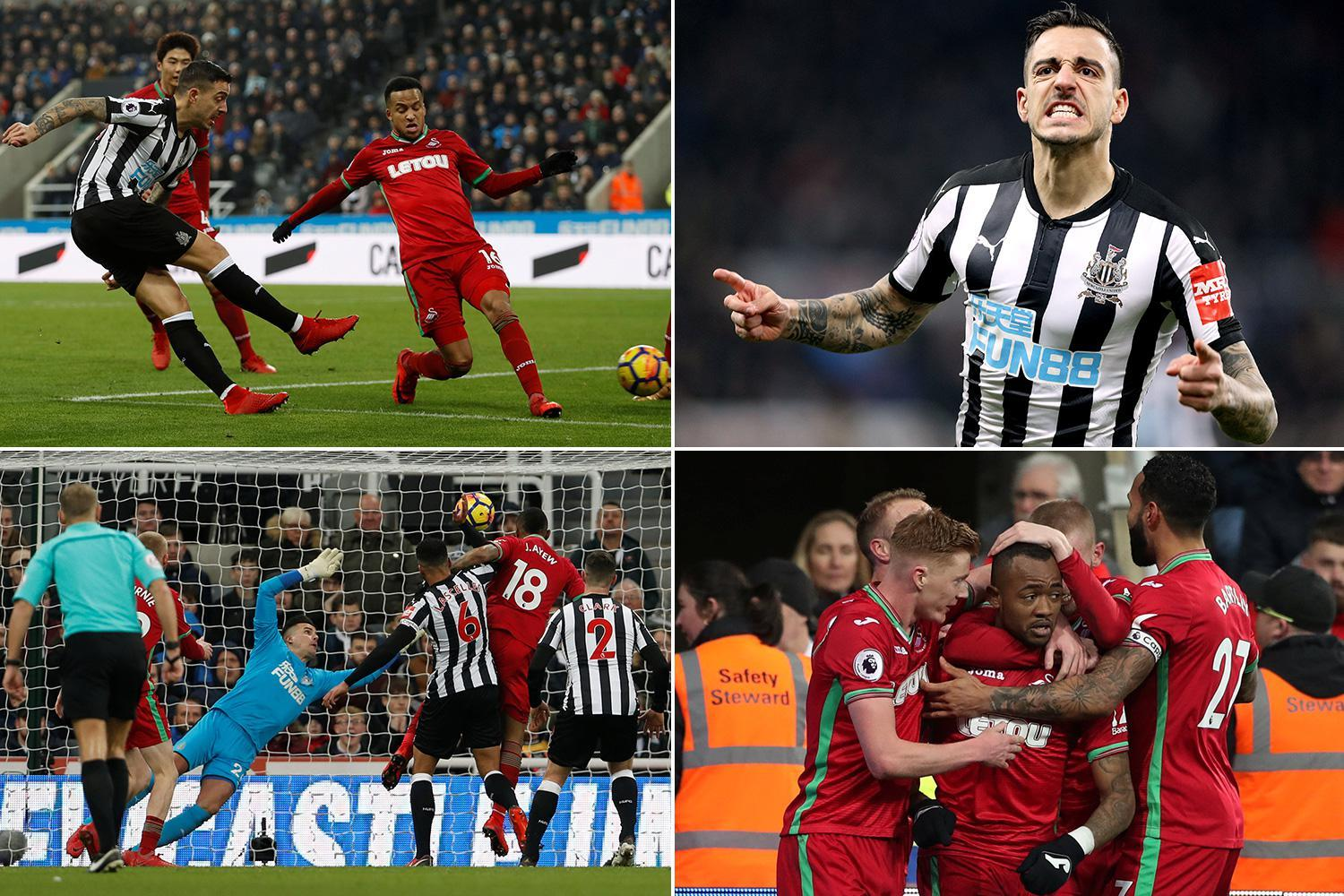 Newcastle 1 Swansea 1: Substitute Joselu equalises with first touch of the game to pile the pressure on struggling Swans