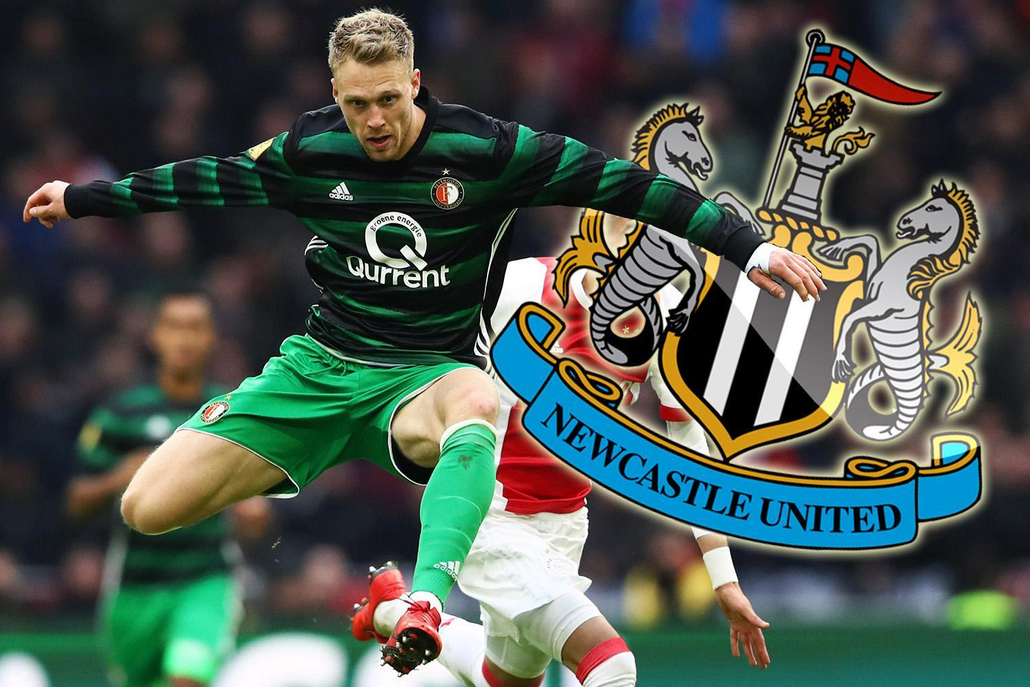 Newcastle in talks with Feyenoord over £20m-rated striker Nicolai Jorgensen