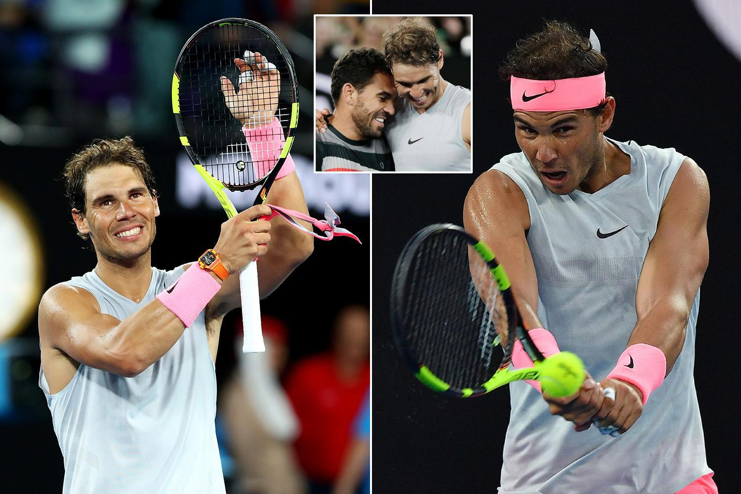 Australian Open 2018: Rafael Nadal shakes off injury fears with crushing first-round win over Victor Estrella Burgos