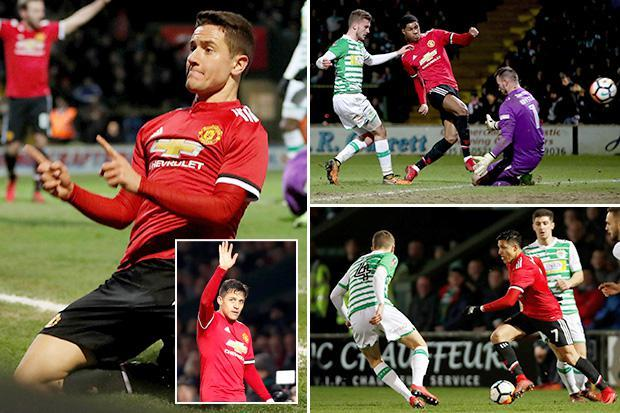Yeovil 0 Manchester United 4: Alexis Sanchez shines on debut as Marcus Rashford, Ander Herrera, Jesse Lingard and Romelu Lukaku score in FA Cup clash