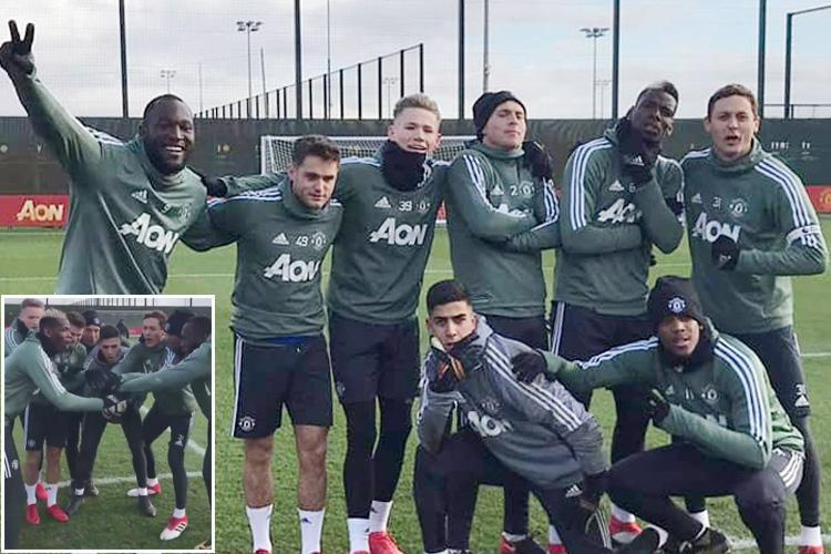 Alexis Sanchez appears to suffer first Manchester United defeat as Romelu Lukaku celebrates scoring winner in 7-a-side training game
