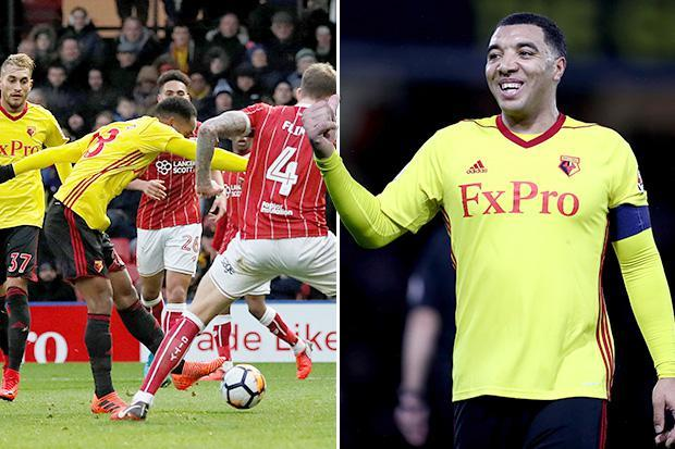 Watford 3 Bristol City 0: Goals from Troy Deeney, Andre Carrillo and Etienne Capoue ease Hornets into fourth round of FA Cup