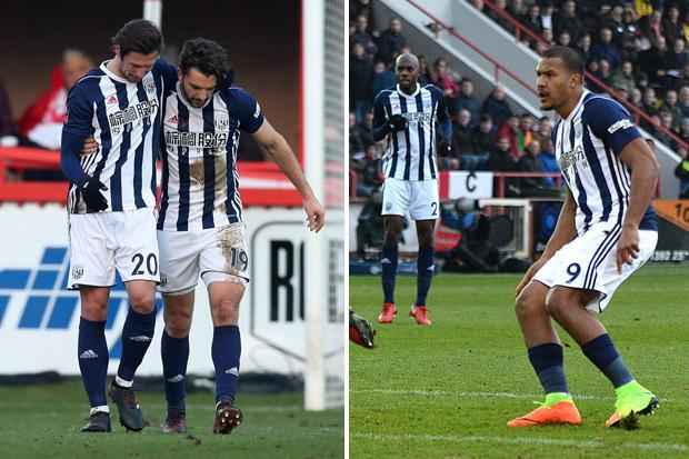 Exeter 0 West Brom 2: Alan Pardew finally secures first win since taking over at the Hawthorns