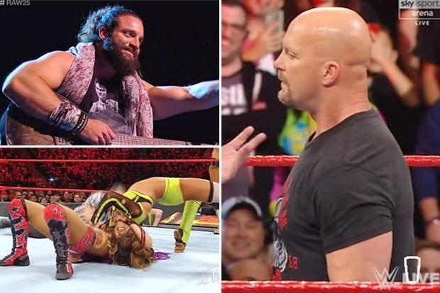 WWE Raw: SunSport's view from across the pond as wrestling fans celebrate 25 years of Raw with massive double show
