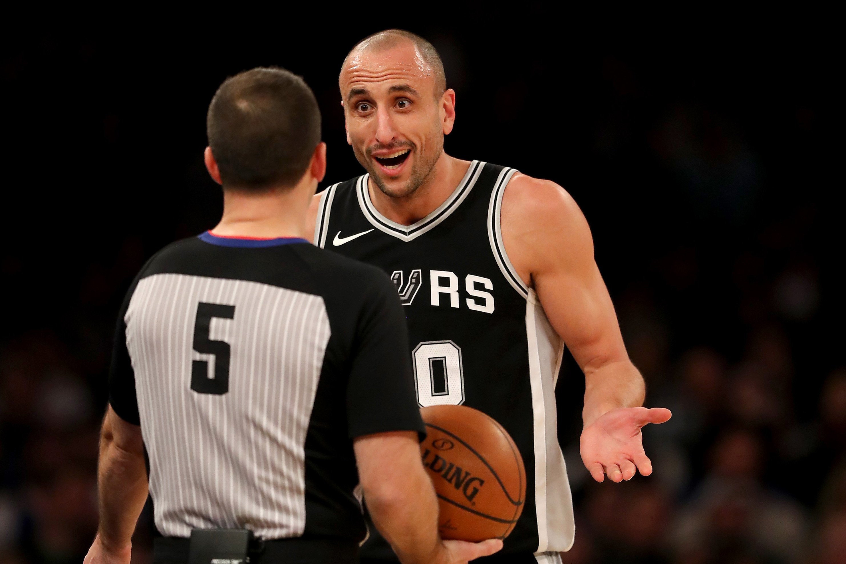 Manu Ginobili conjured some magic for his Garden-invading fans