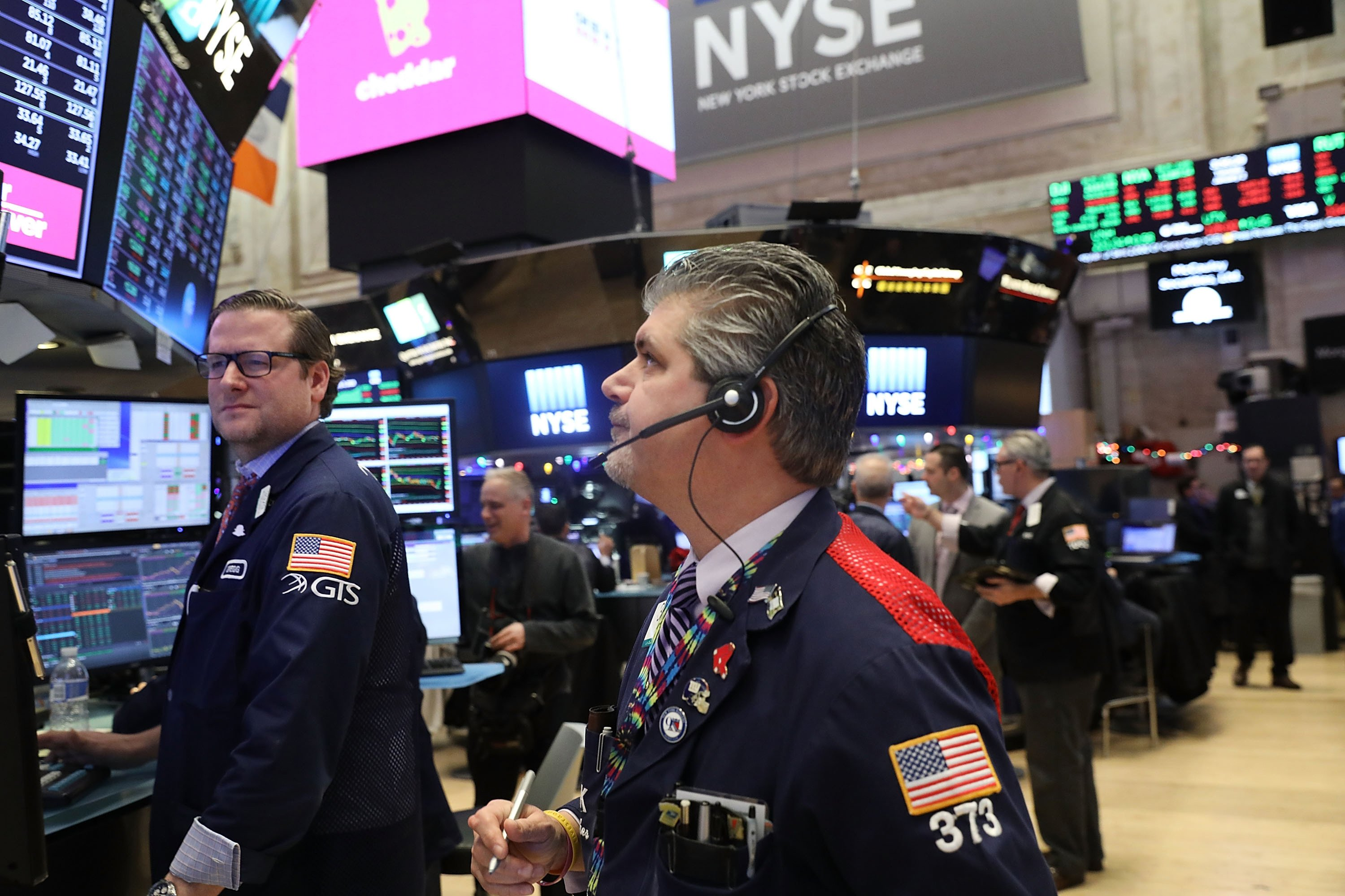 Stocks open lower for first time in 2018