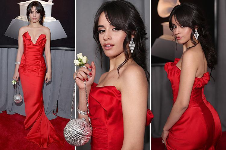 Camila Cabello stops interview to 'squeeze her boobs' on the Grammys red carpet