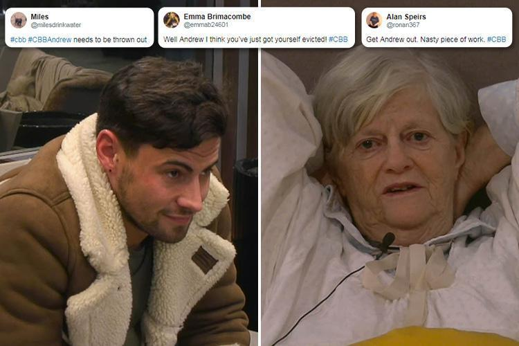 CBB fans demand Andrew Brady is punished after he calls Ann Widdecombe, 70, 'an old c***' in shocking rant