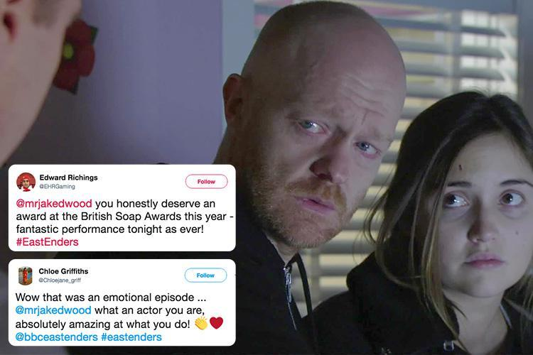 EastEnders viewers praise Jake Wood for harrowing performance as Max prepares to turn off Abi's life support machine