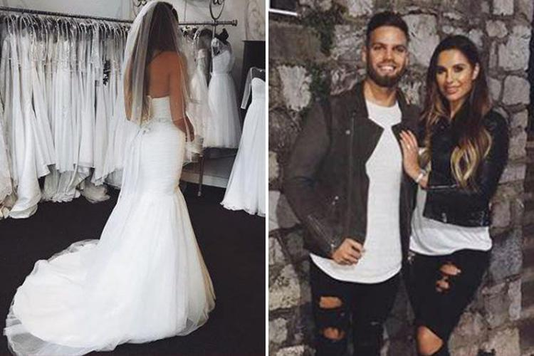 Love Island S Jessica Shears Poses In A Wedding Dress As She Plans To Dom Lever