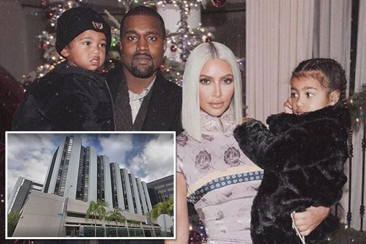 Kim Kardashian and Kanye West 'were in the delivery room for birth of their third child' as surrogate gives them a daughter