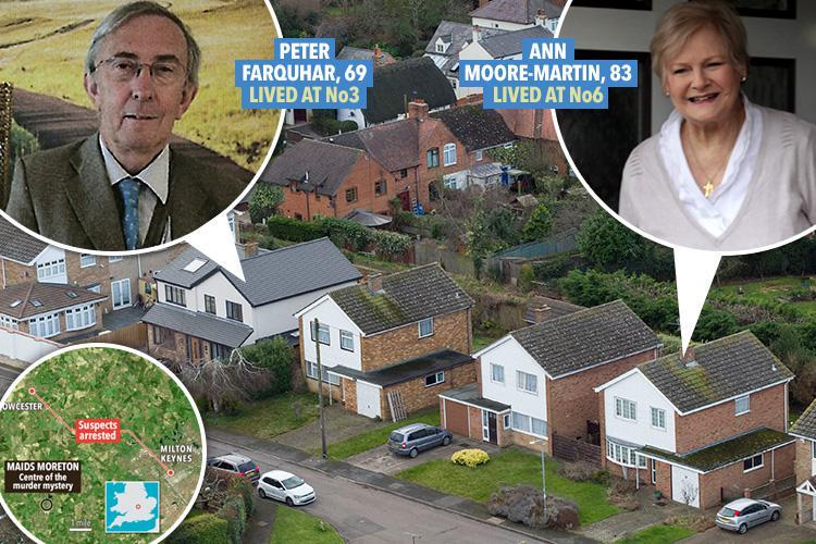 Two dead OAPs at the centre of sleepy village murder mystery as police arrested their lodger, his brother and a magician pal