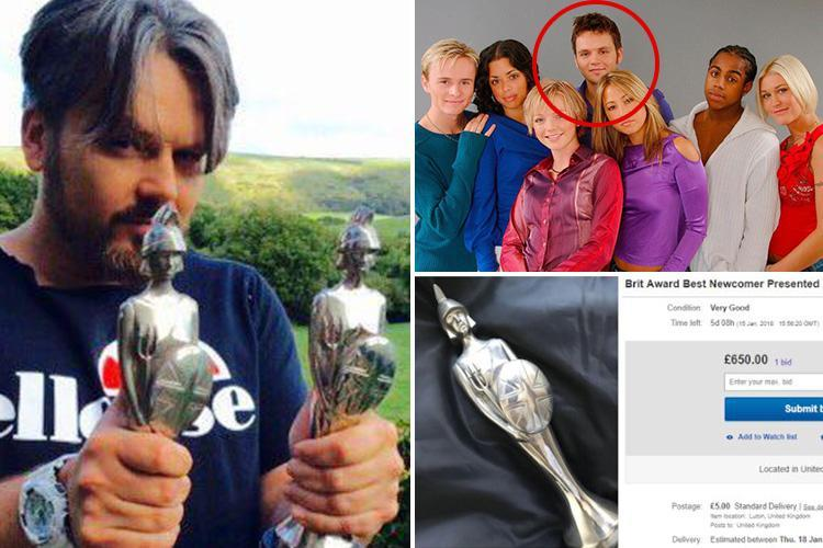 Paul Cattermole selling S Club 7 BRIT Award on eBay – but only one person has bid