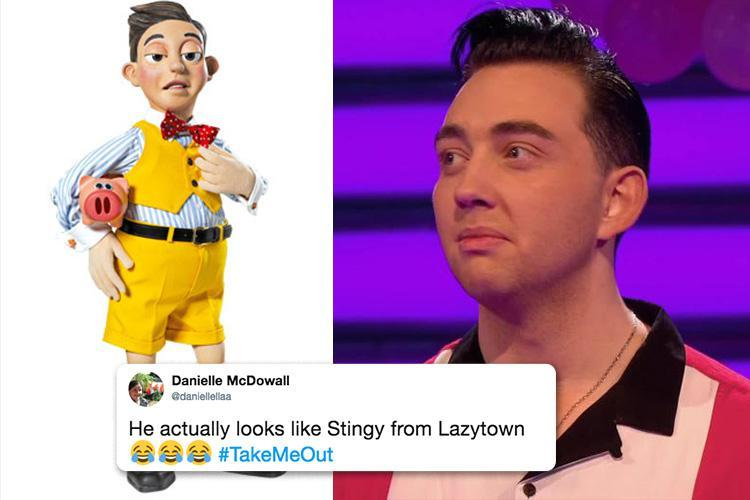 Take Me Out fans in hysterics as they claim hunky Ryan is spitting image of Lazy Town's Stingy