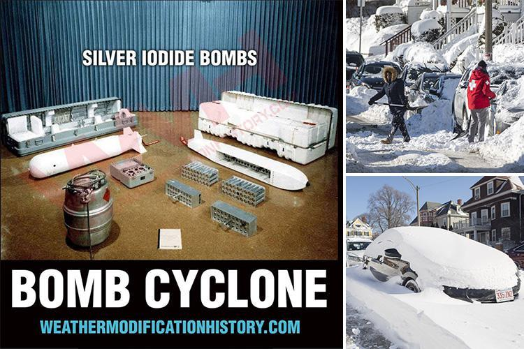 Conspiracy theorists claim American 'bomb cyclone' was caused by secret government 'weather weapon' tests gone wrong